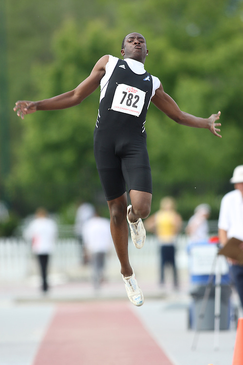(London, Ontario---13/06/09)   Kadeem Douglas of Take Flight Athletics competes in the  junior men's long jump at the 2009 Athletics Ontario Junior Track and Field Championships. The meet was held in London, Ontario from June 13-14, 2009. Copyright photograph Sean Burges / Mundo Sport Images, 2009. www.mundosportimages.com / www.msievents.