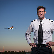 Rod Harrell, GMU Law student, and an airline pilot, at Gravelly Point, near Washington Reagan National Airport.  For George Mason University Antonin Scalia Law School