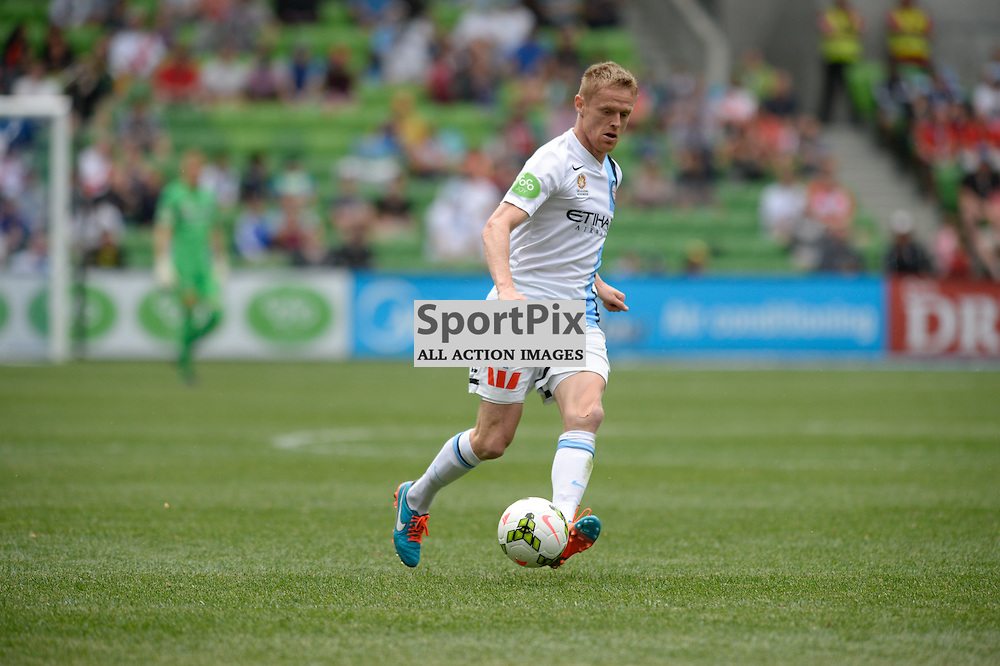 Damien Duff (MBC) The Hyundai A-League match between Melbourne City &amp; Newcastle Jets held at AAMI Park, Melbourne, Victoria on 19th October 2014.<br /> MARK AVELLINO | SportPix.org.uk