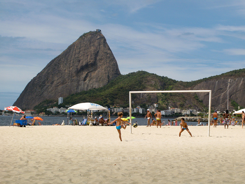 Futebol, as locals call it, is the national sport. It's a Brazilian passion and art..Actually it is much more than a sport; it is a passion and art and is in the minds and hearts of many Brazilians.At the beaches in Rio there was always a beach soccer match going on. Either matches in the official beach soccer tournament or just small teams of friends playing for fun