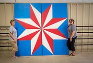 Barn Quilt workshop in Woodward Oklahoma.<br /> OCES Educators are creating interest in creating barn quilts to create a tourist attraction in the form of a Barn Quilt Trail.