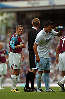 Photo: Tony Oudot. <br /> West Ham United v Manchester City. Barclays Premiership. 11/08/2007. <br /> Craig Bellamy of West Ham complains to referee Peter Walton