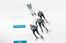 20.02.2018, Alpensia Cross-Country Skiing Centre, Pyeongchang, KOR, PyeongChang 2018, Nordische Kombination, Langlauf, im Bild v.l. Fabian Riessle (GER, 2. Platz), Johannes Rydzek (GER, 1. Platz), Eric Frenzel (GER, 3. Platz), Jarl Magnus Riiber (NOR) // f.l. silver medalist Fabian Riessle of Germany gold medalist and Olympic champion Johannes Rydzek of Germany bronce medalist Eric Frenzel of Germany Jarl Magnus Riiber of Norway during Nordic Combined, Cross Country of the Pyeongchang 2018 Winter Olympic Games at the Alpensia Cross-Country Skiing Centre in Pyeongchang, South Korea on 2018/02/20. EXPA Pictures © 2018, PhotoCredit: EXPA/ Johann Groder