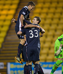 Falkirk's Blair Alston celebrates after scoring their goal. <br /> Half time : Livingston 0 v 1 Falkirk, Scottish Championship played13/12/2014 at The Energy Assets Arena.