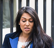 Employment Minister Priti Patel leaves the Cabinet meeting at Downing Street, London.<br /> Picture by Paul Davey/Focus Images Ltd +447966 016296<br /> 16/03/2016
