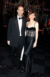 VISCOUNT & VISCOUNTESS MACKINTOSH OF HALIFAX at the Conservative Party's Black & White Ball held at Old Billingsgate, 16 Lower Thames Street, London EC3 on 8th February 2006.<br />