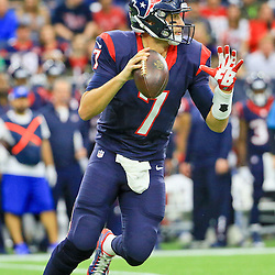 Nov 29, 2015; Houston, TX, USA; Houston Texans quarterback Brian Hoyer (7) against the New Orleans Saints during the first quarter of a game at NRG Stadium. Mandatory Credit: Derick E. Hingle-USA TODAY Sports