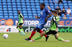 Anthony Grant of Peterborough United gets to the ball before Sonny Bradley of Plymouth Argyle - Mandatory by-line: Joe Dent/JMP - 05/08/2017 - FOOTBALL - ABAX Stadium - Peterborough, England - Peterborough United v Plymouth Argyle - Sky Bet League One