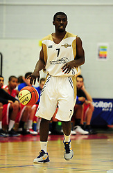 Essex Leopards' Ishmael Fontaine - Photo mandatory by-line: Dougie Allward/JMP - Tel: Mobile: 07966 386802 23/03/2013 - SPORT - Basketball - WISE Basketball Arena - SGS College - Bristol -  Bristol Academy Flyers V Essex Leopards