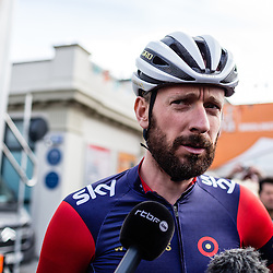 Bradley Wiggins on his first race with his WIGGINS team.