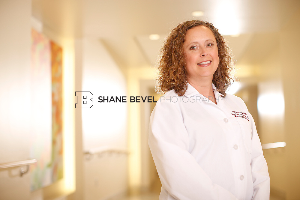 5/28/15 4:12:13 PM -- Dr. Renee Frenier of Saint Francis Health System poses for a portrait for the 2015 Advertising Campaign. <br /> <br /> Photo by Shane Bevel