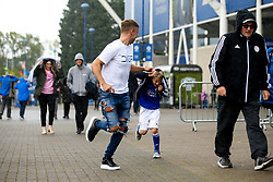 Leicester City fans try to shelter themselves from the rain - Mandatory by-line: Robbie Stephenson/JMP - 29/09/2019 - FOOTBALL - King Power Stadium - Leicester, England - Leicester City v Newcastle United - Premier League