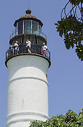 The Key West Lighthouse, made famous by the writer Ernest Hemingway. Key West on the southern-most tip of Florida is a popular tourist destination, with a very different vibe to it than Miami.