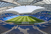 A panoramic view of the American Express Community Stadium before the Sky Bet Championship play-off second leg match between Brighton and Hove Albion and Sheffield Wednesday at the American Express Community Stadium, Brighton and Hove, England on 16 May 2016.