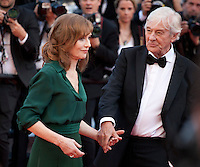 Actress Isabelle Huppert and Director Paul Verhoeven at the gala screening for the film Elle at the 69th Cannes Film Festival, Saturday 21st May 2016, Cannes, France. Photography: Doreen Kennedy