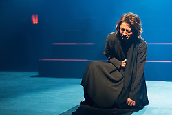© Licensed to London News Pictures. 21/05/2015. London, UK. Pictured: Tatsuya Fujiwara as Hamlet. The Ninagawa Company returns to the Barbican and perform Hamlet by Shakespeare under the direction of Yukio Ninagawa. With Tatsuya Fujiwara as Hamlet. Performances in Japanese with English surtitles from 21 to 24 May 2015. Photo credit : Bettina Strenske/LNP