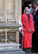 © Licensed to London News Pictures. 20/06/2012. Oxford, UK Aung San Suu Kyi arrives at Oxford University today 20 June 2012 ahead of receiving an Honary Degree at the Encaenia Ceremony.  The Burmese democracy leader is to receive an honorary doctorate in civil law at annual ceremony honouring the brightest and best. Other honorees include: former MI5 Director General Baroness Manningham-Buller; author David John Moore Cornwell (aka John le Carre); Harvard University president Professor Drew Gilpin Faust; and Sony chief executive Sir Howard Stringer. Photo credit : Stephen Simpson/LNP