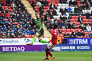 Plymouth Argyle Defender Gary Sawyer (3) clears the ball during the EFL Sky Bet League 1 match between Charlton Athletic and Plymouth Argyle at The Valley, London, England on 24 March 2018. Picture by Stephen Wright.