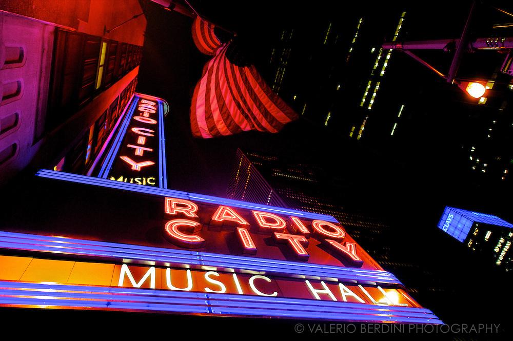 Radio City Hall, Manhattan. New York, USA.