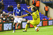 Birmingham's Jacques Maghoma goes past Burton Albion's Ben Turner during the The FA Cup 3rd round match between Birmingham City and Burton Albion at St Andrews, Birmingham, England on 6 January 2018. Photo by John Potts.