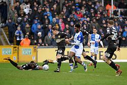 Ellis Harrison of Bristol Rovers bursts throgh the Bury defence - Mandatory by-line: Neil Brookman/JMP - 30/03/2018 - FOOTBALL - Memorial Stadium - Bristol, England - Bristol Rovers v Bury - Sky Bet League One