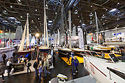 Düsseldorf, North Rhine Westphalia.<br /> Boot 2015 is the biggest fair related to yachting and maritime sports in the World.<br /> Sailing boats.