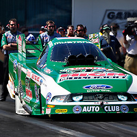 John Force at Full throttle drag racing series, National Hot Rod Association 2011