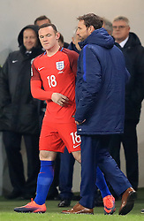 File photo dated 11-10-2016 of England's Wayne Rooney and manager Gareth Southgate.