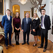 20.11.2016           <br /> Winners of the 2016 All Ireland Scholarships were commended by Rugby Legend, Paul O'Connell at an awards ceremony at the University of Limerick. <br />  Sponsored by JP McManus, the educational scheme is set to provide financial assistance to many high achieving students who completed their Leaving Certificat/A Level examinations in 2016. <br /> <br /> Attending the awards ceremony were, scholarship recipients, Conor Gaffney, Wexford Town, Chloe Carrick, Ballinasloe Co. Galway, Eimear McErlane, The Loup Co. Derry and James McDonnell, Middleton Co. Cork with JP McManus (centre). Picture: Alan Place
