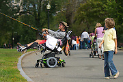 September 19, 2010 - An unidentified child watches Richard F. Troise as he flys his kite in Boston Common. Photo by Lathan Goumas, COM 2011.