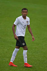 NEWPORT, WALES - Monday, October 14, 2019: Austria's Thierno Ballo during an Under-19's International Friendly match between Wales and Austria at Dragon Park. (Pic by David Rawcliffe/Propaganda)