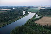 aerial View over Willamette River, Willamette Valley, Oregon