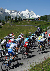 06.07.2011, AUT, 63. OESTERREICH RUNDFAHRT, 4. ETAPPE, MATREI-ST. JOHANN, im Bild ein Feature der Fahrer im Feld mit Fredrik Kessiakoff, (SWE, Pro Team Astana), dahinter der Großglockner // during the 63rd Tour of Austria, Stage 4, 2011/07/06, EXPA Pictures © 2011, PhotoCredit: EXPA/ S. Zangrando