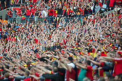 LONDON, ENGLAND - Saturday, June 2, 2012: Belgium supporters start a Mexican wave during the International Friendly match against England at Wembley. (Pic by David Rawcliffe/Propaganda)