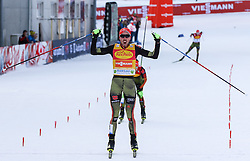 17.12.2016, Nordische Arena, Ramsau, AUT, FIS Weltcup Nordische Kombination, Langlauf, im Bild Johannes Rydzek (GER) beim Zieleinlauf // Johannes Rydzek of Germany crosses the finish line during Cross Country Competition of FIS Nordic Combined World Cup, at the Nordic Arena in Ramsau, Austria on 2016/12/17. EXPA Pictures © 2016, PhotoCredit: EXPA/ Martin Huber