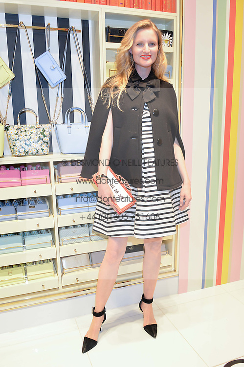 CANDICE LAKE at the opening party of the new Kate Spade New York store at 182 Regent Street, London on 21st April 2016.