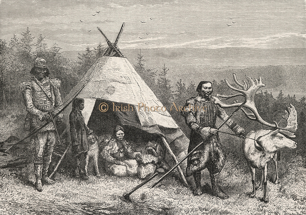 Native encampment in Siberia encounted by the expedition led by Nils Adolf Erik 1878-1879. Nordenskiold in SS ''Vega'' to negotiate the Northeast Passage