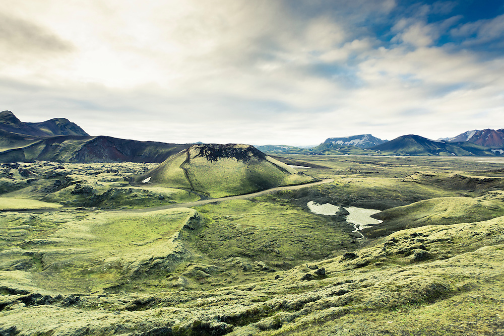 Landscape and mountains near Landmannalaugar, Iceland