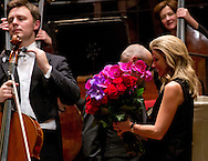 ASMTERDAM - King Willem-Alexander and Queen Maxima at the farewell concert of Mariss Jansons, chief conductor of the Royal Concertgebouw Orchestra. Jansons in 2004 became chief conductor and leave the orchestra at the end of this season.COPYRIGHT ROBIN UTRECHT