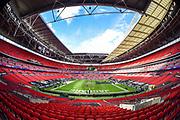 Wembley Stadium interior shot during the International Series match between Jacksonville Jaguars and Philadelphia Eagles at Wembley Stadium, London, England on 28 October 2018.