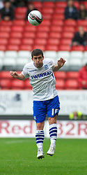 LONDON, ENGLAND - Saturday, October 8, 2011: Tranmere Rovers' David Buchanan and Charlton Athletic's Danny Green during the Football League One match at The Valley. (Pic by Gareth Davies/Propaganda)