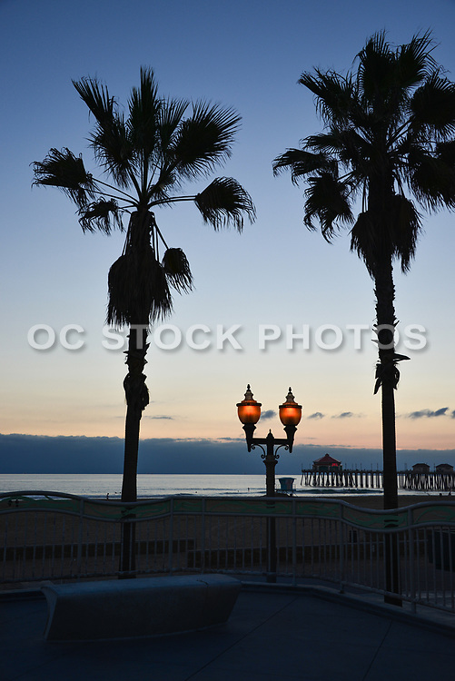 Huntington Beach at the Pier at Dusk