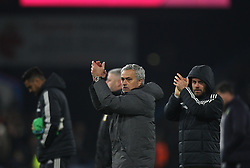 Manchester United manager Jose Mourinho (C) applauds the fans at the final whistle - Mandatory by-line: Jack Phillips/JMP - 20/01/2018 - FOOTBALL - Turf Moor - Burnley, England - Burnley v Manchester United - English Premier League