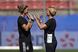 June 29, 2019 - Rennes, France - Martina Voss-Tecklenburg head coach of Germany gives instructions before the 2019 FIFA Women's World Cup France Quarter Final match between Germany and Sweden at Roazhon Park on June 29, 2019 in Rennes, France. (Credit Image: © Jose Breton/NurPhoto via ZUMA Press)
