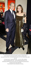 SIR JOHN & LADY LEON he is actor John Standing and she is Sarah Forbes daughter of Brian Forbes and Nanette Newman, at a party in London on 5th December 2002.PFZ 50