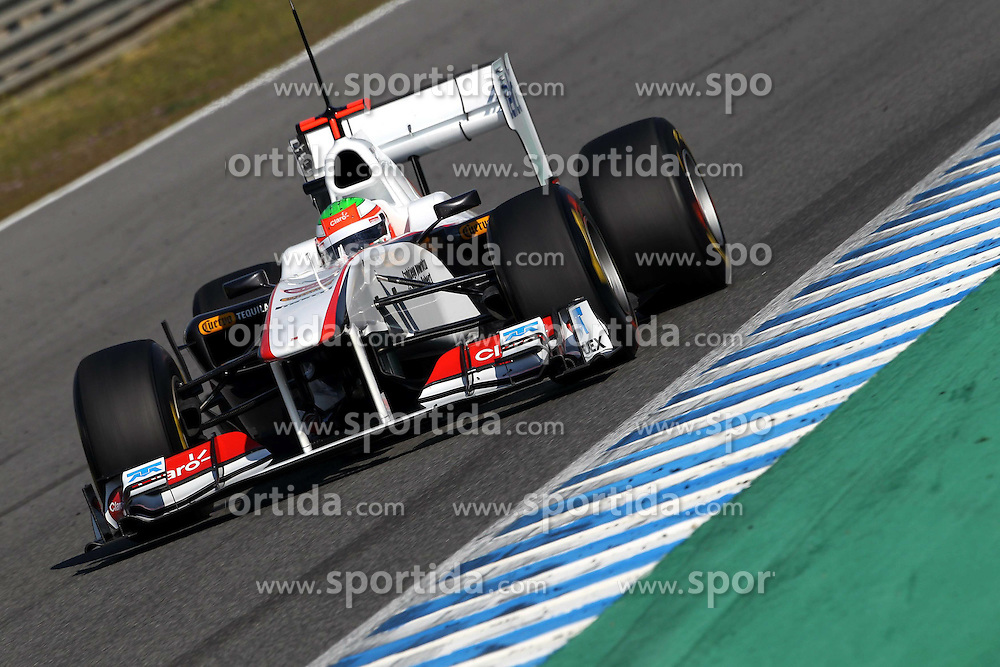 11.02.2011, Street Circuit. Jerez, ESP, Formel 1 Test 2 Valencia 2011,  im Bild Sergio Perez (MEX) Sauber F1 Team EXPA Pictures © 2011, PhotoCredit: EXPA/ nph/   poleposition.at        +++++ only AUT and SLO