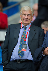 CARDIFF, WALES - Tuesday, August 21, 2014: England's Trevor Brooking during the FIFA Women's World Cup Canada 2015 Qualifying Group 6 match against Wales at the Cardiff City Stadium. (Pic by David Rawcliffe/Propaganda)
