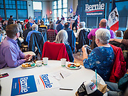30 DECEMBER 2019 - WEST DES MOINES, IOWA: People wait for Senator Bernie Sanders at NOAH's Event Center in West Des Moines, a suburb of Des Moines. Sen. Sanders is in Iowa campaigning to be the Democratic presidential nominee in 2020. Iowa hosts the first selection event of the presidential election cycle. The Iowa Caucuses are Feb. 3, 2020.       PHOTO BY JACK KURTZ