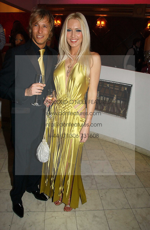 EMMA NOBEL and RICK PARFITT jnr at Andy &amp; Patti Wong's annual Chinese New year Party, this year to celebrate the Year of The Pig, held at Madame Tussauds, Marylebone Road, London on 27th January 2007.<br />