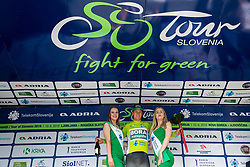 Winner Pascal Ackermann (GER) of Bora - Hansgrohe as best in Overall classification celebrates at trophy ceremony  during 1st Stage of 26th Tour of Slovenia 2019 cycling race between Ljubljana and Rogaska Slatina (171 km), on June 19, 2019 in  Slovenia. Photo by Vid Ponikvar / Sportida